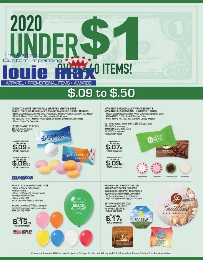 under $1 catalog